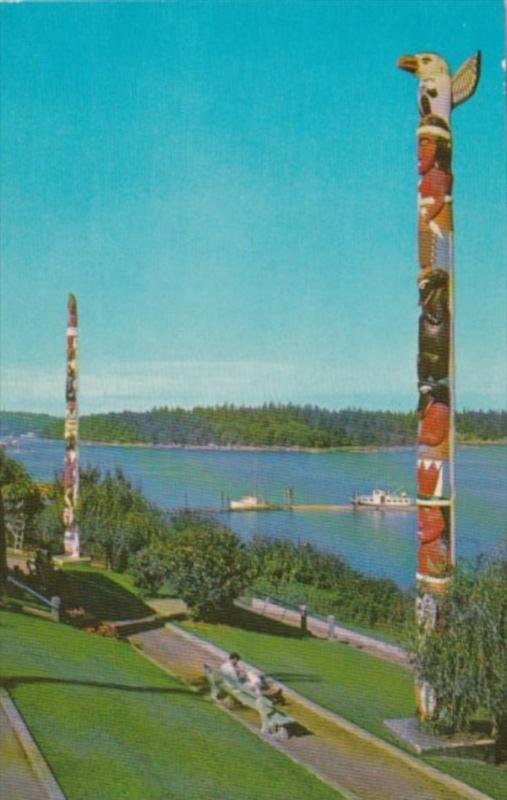 Canada Indian Totem Poles Georgia Park Nanaimo Britsh Columbia