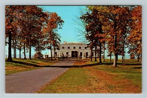 Fort Knox KY-Kentucky, U.S. Gold Depository Building, Fall View, Chrome Postcard