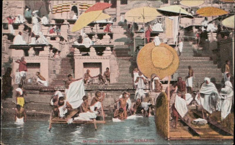 Benares bathing in the Ganges india