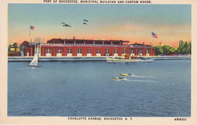Custom House on Genesee River - Charlotte, Rochester, New York - Linen