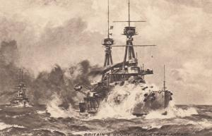 TUCK 4316, Britain's Glory, Full Steam Ahead, Warships,  00-10s