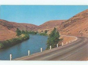 Pre-1980 RIVER SCENE Between Ellensburg & Yakima Washington WA AE5466