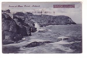 Gray-scale, Bass Point, Nahant, Massachusetts, Metropolitan News 1630 Flag Ca...