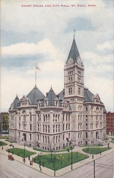 ST. PAUL, Minnesota, 1900-1910's; Court House And City Hall