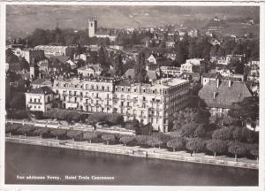 Switzerland Vevey Vue Aerienne Hotel Trois Couronnes Photo