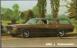 Classic Car Dealer Postcard 1973 AMC Ambassador Station Wagon