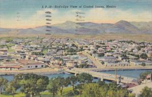 Mexico Juarez Birds Eye View Of Ciudad 1952 Curteich