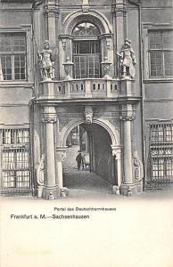 Frankfurt am Main Sachsenhausen Portal des Deutschherrnhauses