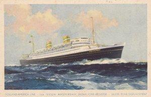 Holland-America Line Ocean Liner t.s.s. NIEUW AMSTERDAM