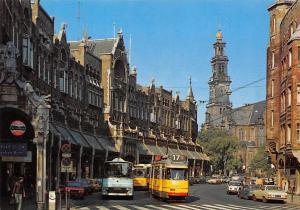 Netherlands Amsterdam Raadhuisstraat met Westerkerk Tram Cars Voitures