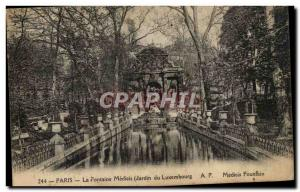 Old Postcard Paris Luxembourg Garden