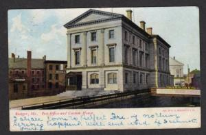 ME Post Office Custom House BANGOR MAINE UDB POSTCARD