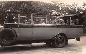 Wien Austria~Round Trip Tours~Vereinigte Wiener Autorundfahrten Oper~1920s RPPC