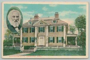 Cambridge Massachusetts~Longfellow House~1920s Postcard