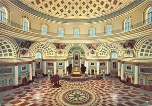Malta Mosta Interior of Dome Cathedral Dom