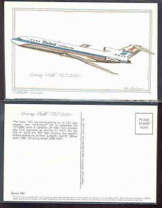 pc2715 postcard Boeing Aircraft Model 727-200 Roy Andersen Sketch