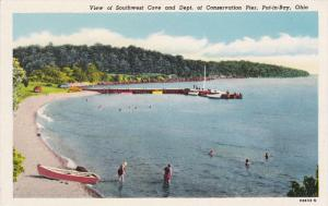 People Bathing, View Of Southwest Cove And Dept. Of Conservation Pier, PUT-IN...