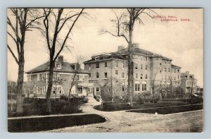 Lakeville CT-Connecticut, Bissell Hall, Street View, Vintage c1911 Postcard