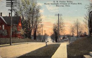 Bucyrus Ohio~North Sandusky St~Gettysburg Civil War General EB Finley Home~1915