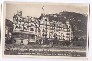 Switzerland Montreux Hotel Eden RPPC Real Photo ca 1930s