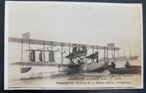 Mint USA RPPC Postcard Aviation Arrival Of Nc4 First Transatlantic Flight 1919