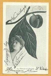 Art Nouveau ; XAVIER SAGER ; Woman & Leaf Combo; PU-1903 ; Du Prunier
