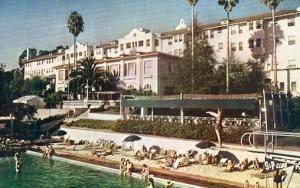 CA - Beverly Hills. Swimming Pool at the Beverly Hills Hotel