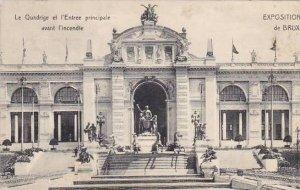 Belgium Brussels Expo 1910 Le Quadrige et l'Entree principale avant l...