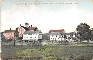 Shaker Postcards Old Vintage Antique Post Cards 50 Acres meadow Church Family...
