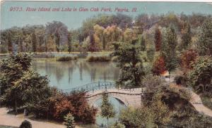 PEORIA , Illinois, 00-10s ; Rose Island & Lake in Glen Oak Park