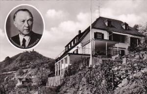 Germany Rhoendorf Haus Adenauer mit Blick auf den Drachenfels Photo