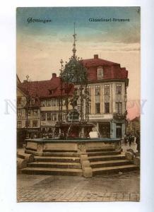 191084 GERMANY GOTTINGEN Ganseliesel Fountain Vintage postcard