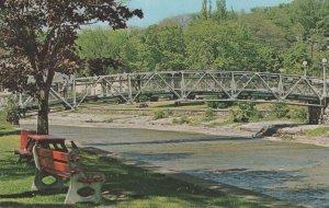 Ganaraska River Footbridge Ontario Canada 1970s Postcard