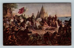 De Soto's Discovery Of The Mississippi, 1541, Painting Powell, Vintage Postcard