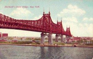 NEW YORK CITY, NY BLACKWELL'S ISLAND BRIDGE 1916