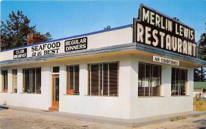 C51 / Rocky Mount North Carolina NC Postcard Chrome Merlin Lewis Restaurant