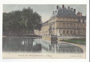 France Palais Fontainebleau L'Etang The Pond Vintage Neurdein Postcard