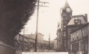 RP:Lower Main Street, SPRINGHILL , Nova Scotia , Canada , PU-1915