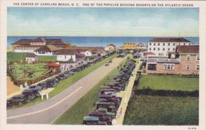 North Carolina Carolina Beach Main Street Scene Curteich
