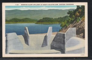 Tennessee colour PC Morning Glory Spillway S Holston Dam, unused