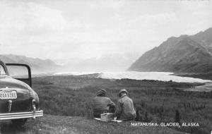 Matanuska Glacier Alaska Scenic View Real Photo Antique Postcard K83259