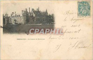 Old Postcard Cherbourg Martinvast Chateau (map 1900)