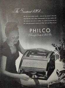 1946 Philco Ad B & W Single Page LIFE Magazine   EXL10038