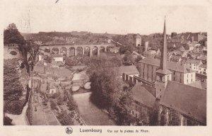LUXEMBOURG, PU-1929; Vue Sur Le Plateau Du Rham