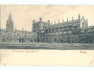 Pre-1907 CHRIST CHURCH DINING HALL Oxford - Oxfordshire Uk hJ6549