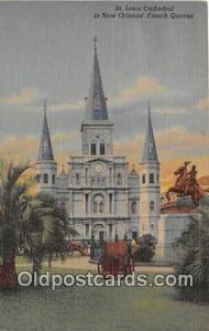 Churches Vintage Postcard Vintage Postcard St Louis Cathedral