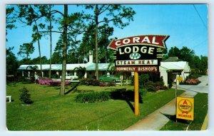 JACKSONVILLE, FL Florida ~ CORAL LODGE  c1950s Cars  Roadside  Postcard
