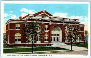 GREENSBORO, North Carolina  NC   Odell Memorial  GREENSBORO COLLEGE c1920s-30s