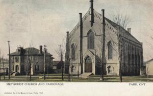 PARIS , Ontario , 1908 ; Methodist Church & Parsonage