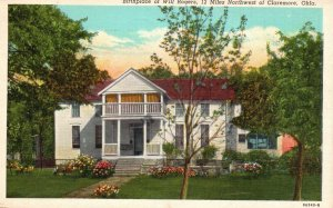 near Claremore, OK, Birthplace of Will Rogers, 1941 Linen Vintage Postcard g8705